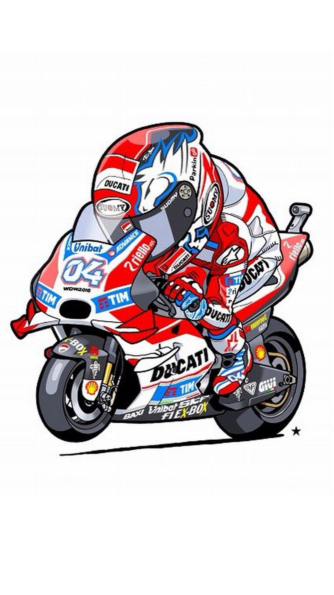 Animated Andrea Dovizioso Iphone Wallpaper Ducati Within Cartoon