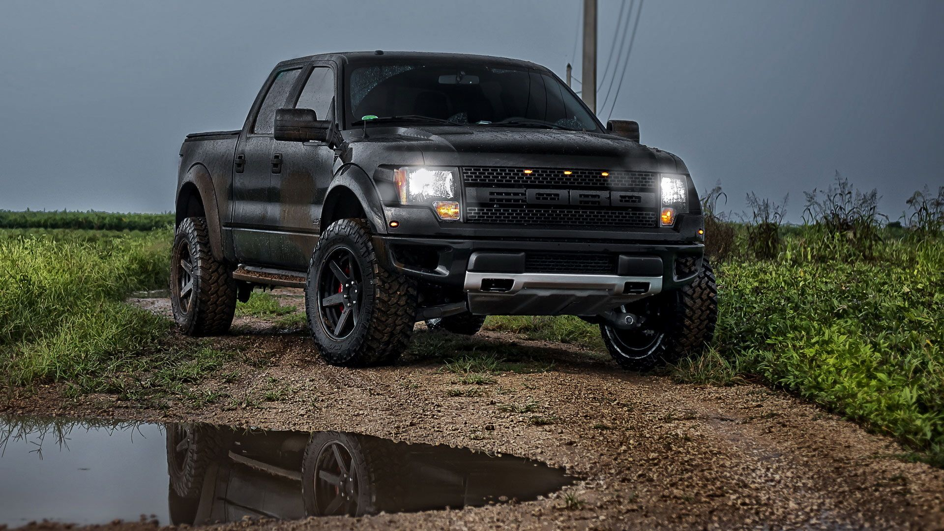 Flat black ford raptor wouldnt mind using this to trailer the horses
