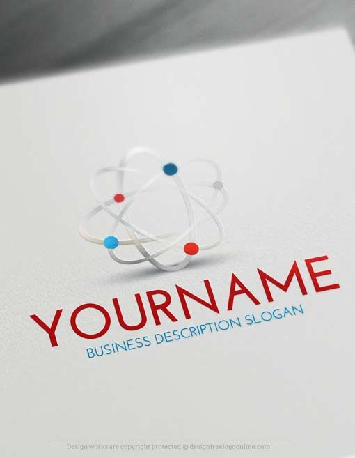 online logo creator science logo maker logo design pinterest