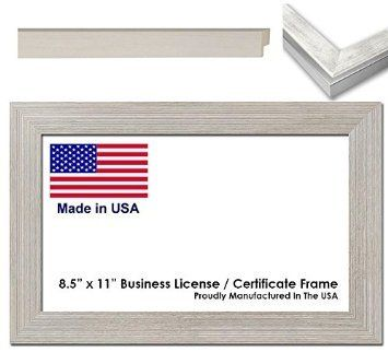 8.5 x 11 Inch Professional Business License Frame - White... https://www.amazon.com/dp/B00US5I0QI/ref=cm_sw_r_pi_dp_-xcIxbEZST8M4