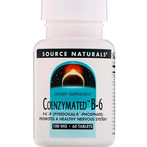 Source Naturals Coenzymated B 6 100 مجم 60 قرص Natural Dietary Supplements Coenzyme Life Extension