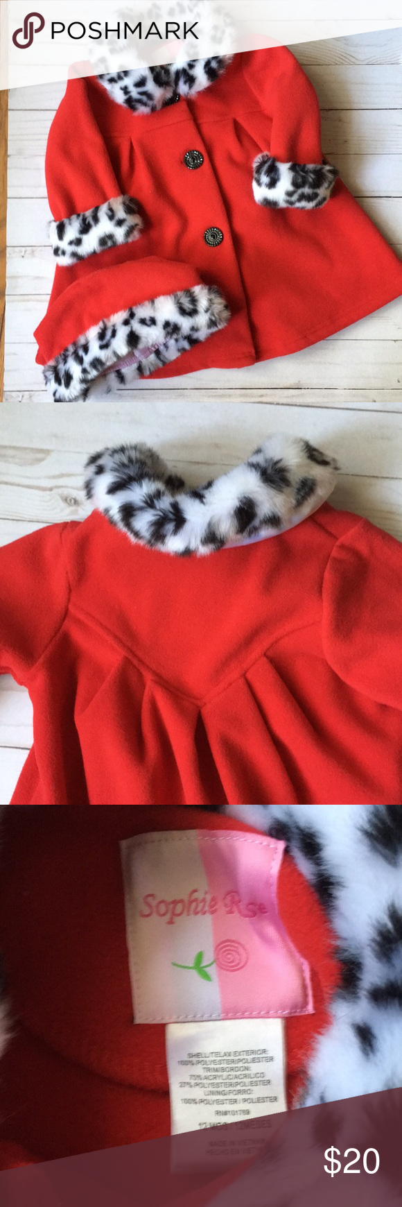Red flannel 2018  NWOT Red Flannel and Fur Trimmed Coat and Hat Adorable NWOT Red
