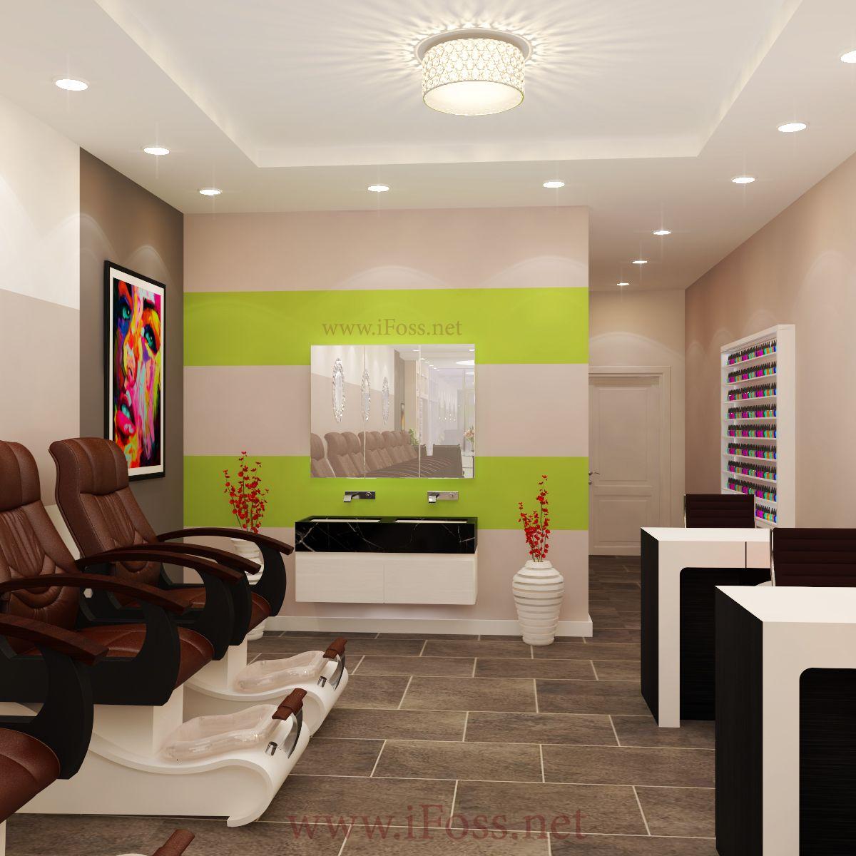 Design Nail Salon #3D #design #thietketiemnaildep