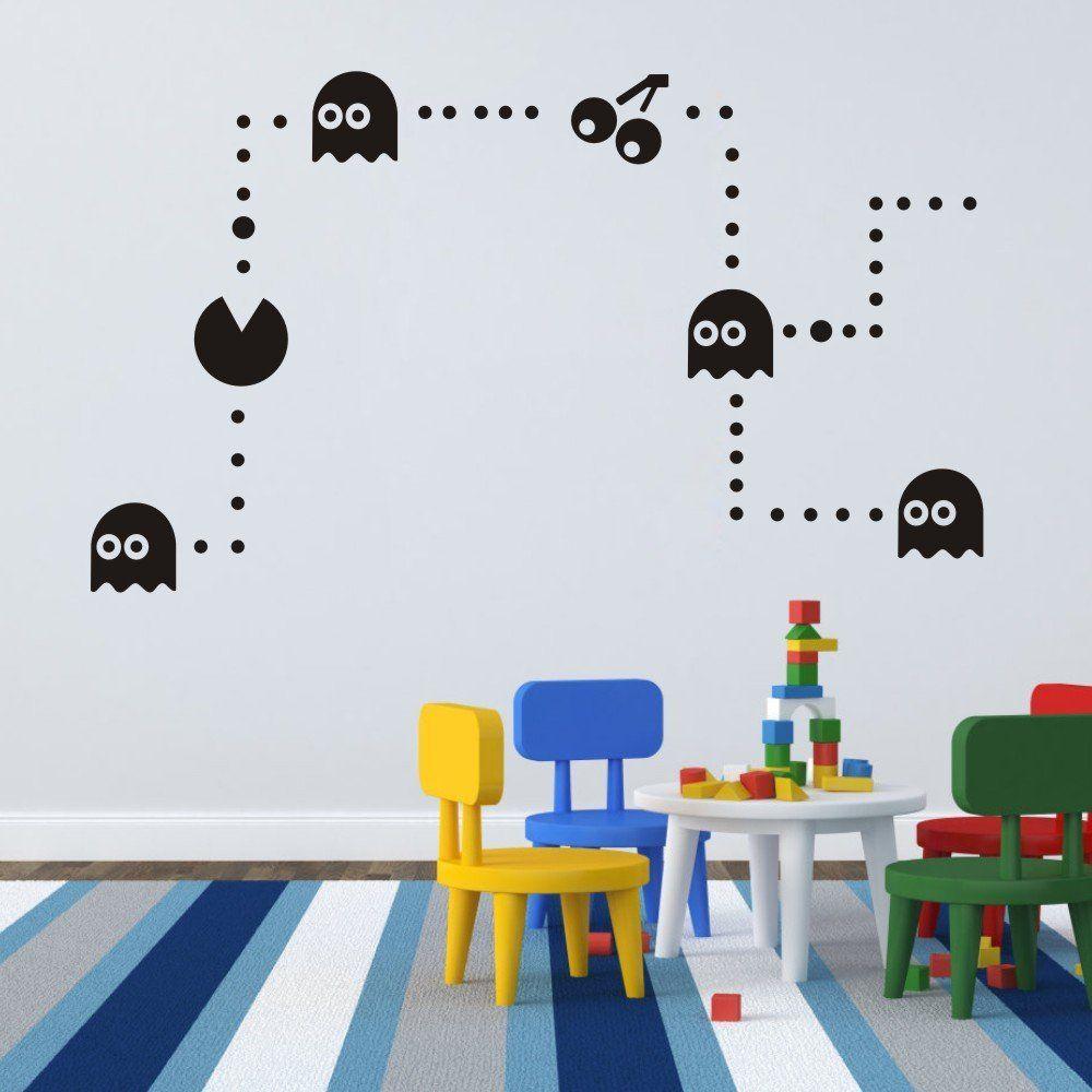 Pac-Man Wandtattoo   Kinderzimmer Decor Pacman Aufkleber   Zocker ...
