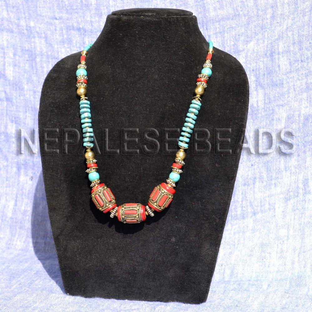 Handmade Tibet Nepalese turquoise Necklace Tibetan necklace Nepal necklace 22