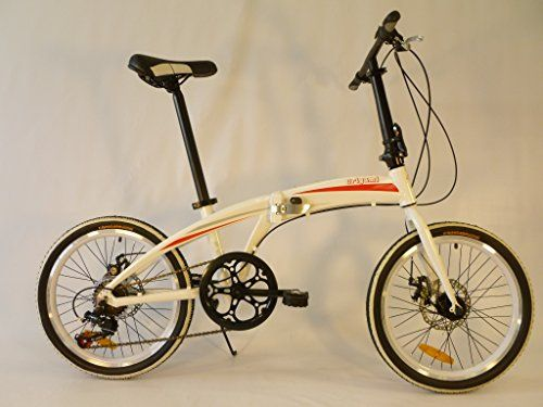 Origami Gazelle 20 Inch Lightweight Aluminum Folding Bicycle White