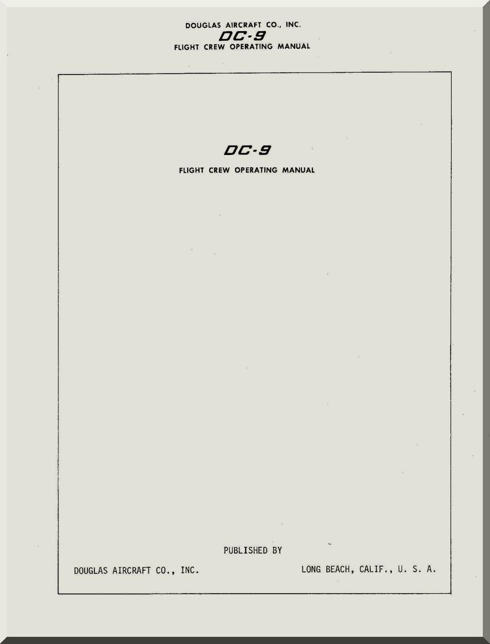 Douglas DC-8 Aircraft Flight Crew Operating Manual - Aircraft Reports -  Manuals Aircraft Helicopter Engines Propellers Blueprints Publications