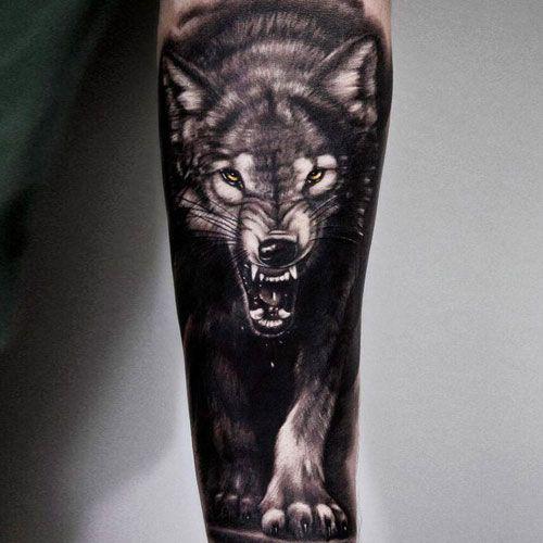 101 Best Wolf Tattoos For Men Cool Designs Ideas 2019 Update Wolf Tattoos Men Wolf Tattoo Sleeve Lone Wolf Tattoo