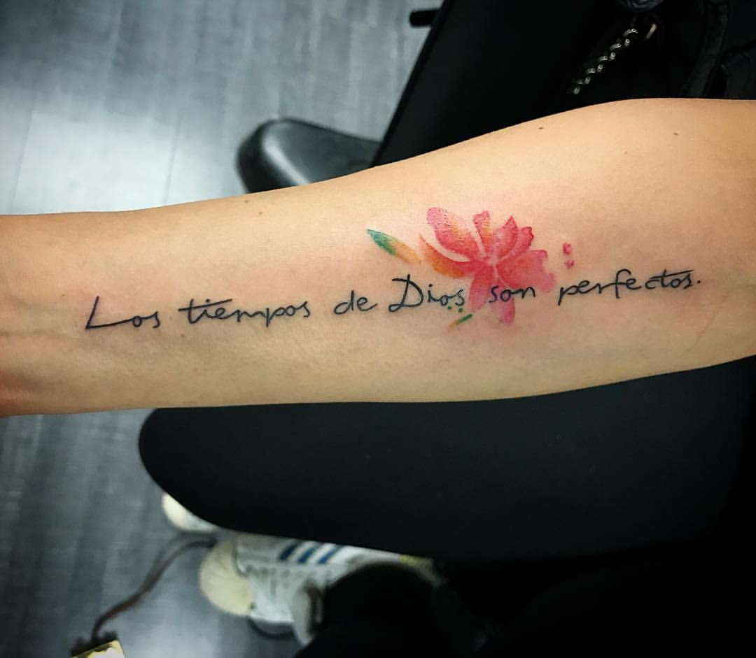Los Tiempos De Dios Son Perfectos Ink Inked Tattoo Tatuaje