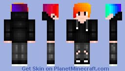 Rainbow Hair Guy With Hoodie Requested By Cambw12321 Minecraft Skin Rainbow Hair Minecraft Skin Minecraft Skins Rainbow