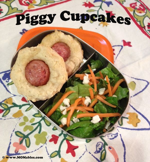 Piggy Cupcakes (aka pigs in a blanket) all set for lunch.  YUMMY!