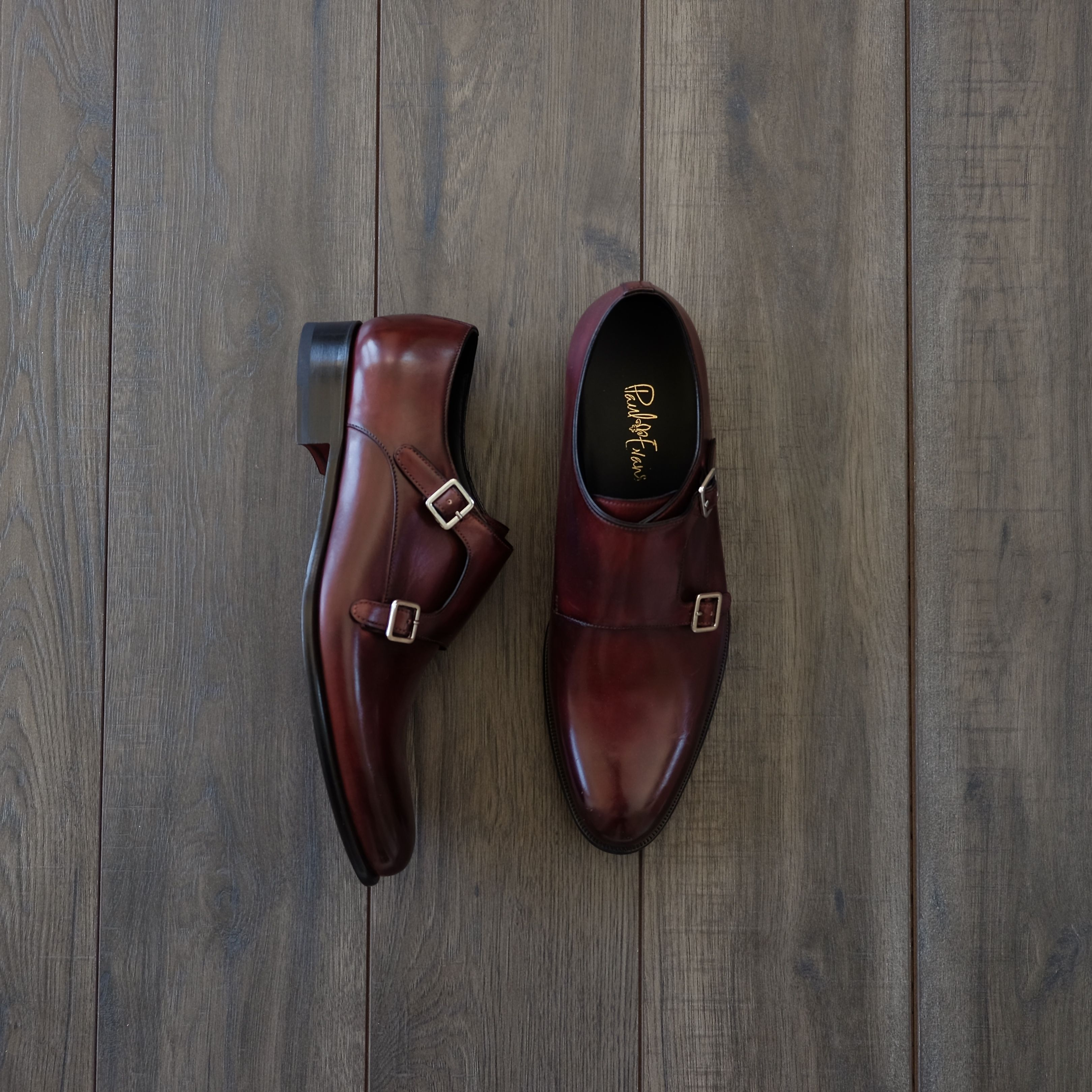 ac6364a743 Oxblood double Monk Shoes from Paul Evans. #doublemonk #paulevans #shoes  #footwear #monks #monkstrap
