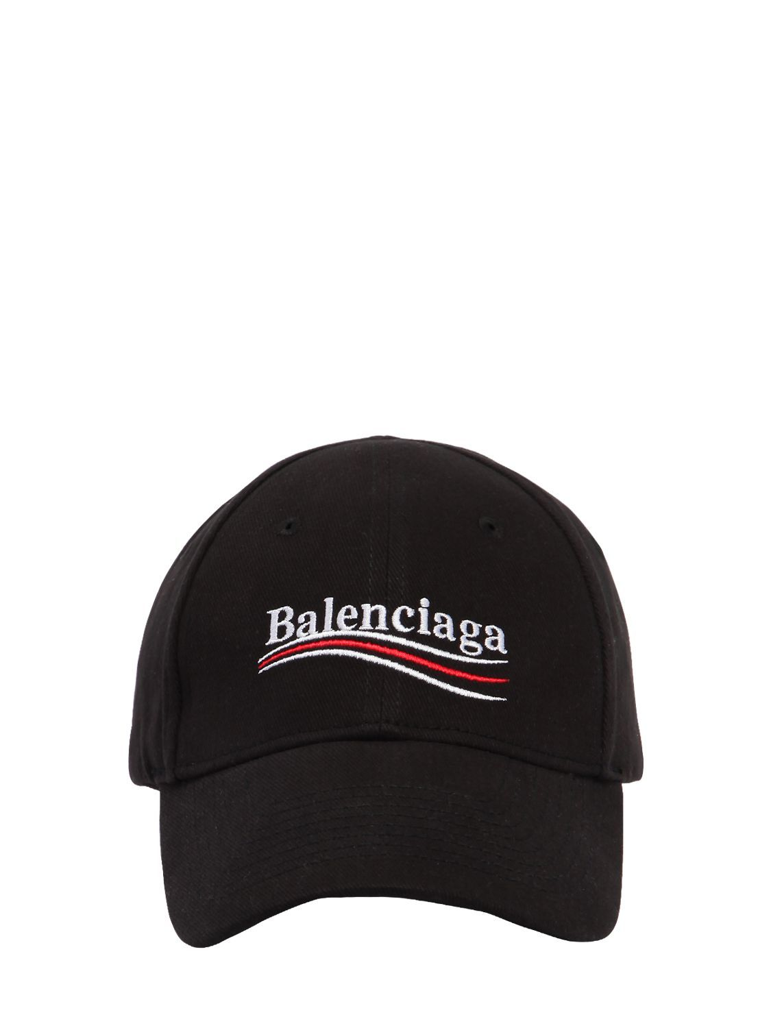 8e5721e6da1 BALENCIAGA NEW POLITICAL LOGO COTTON HAT.  balenciaga