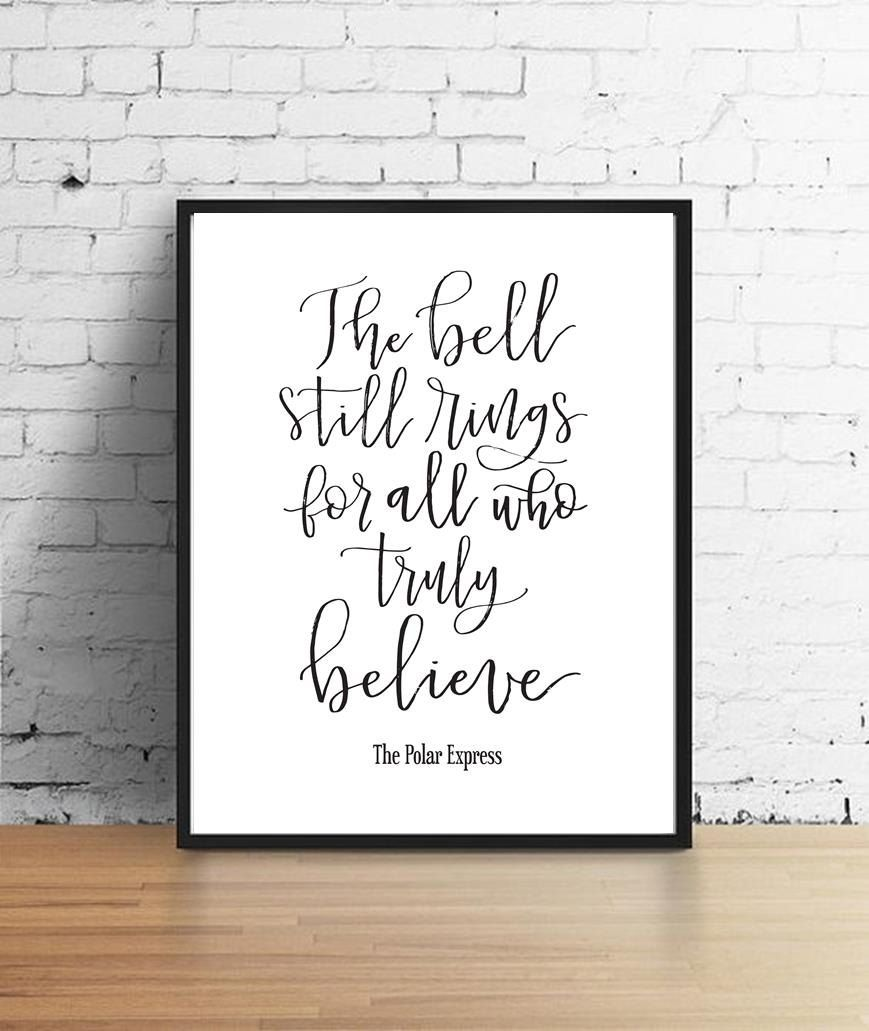It's just a picture of Stupendous The Bell Still Rings for Those Who Truly Believe Printable