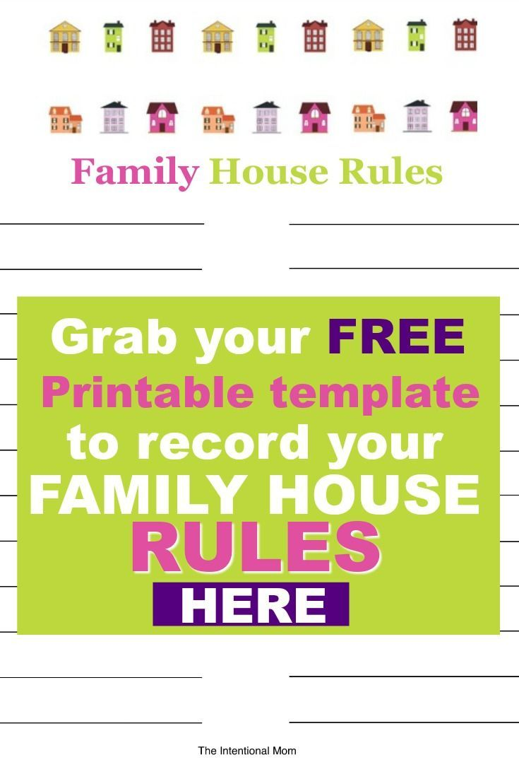Family House Rules Template | Pinterest | House rules, Family kids ...