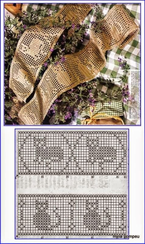 Crochet filet gatos en puntilla | cats | Pinterest | Filete, Gato y ...