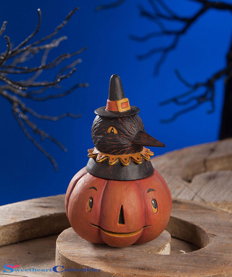Details about Bethany Lowe Halloween jp7941 . Pumpkin Crow