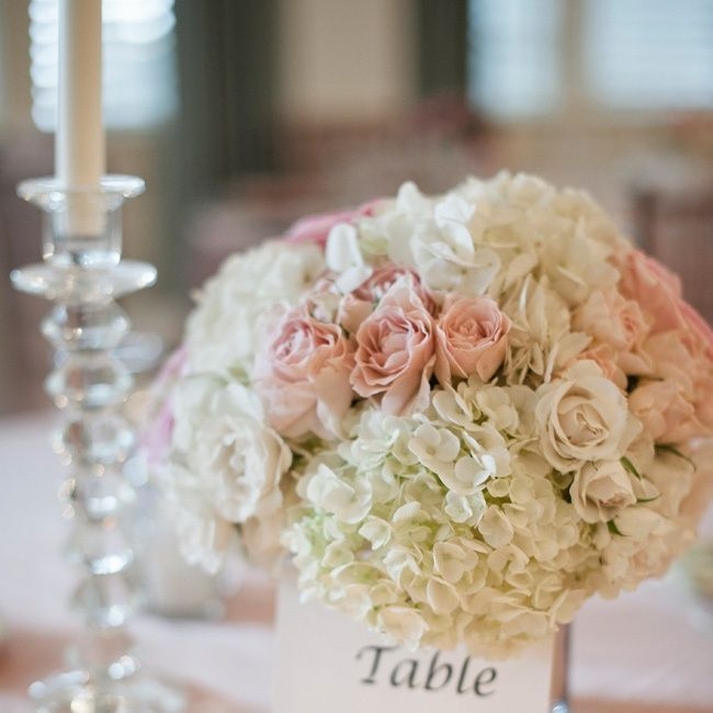 Pink Flower Centerpieces For Weddings: Blush And White Centerpieces