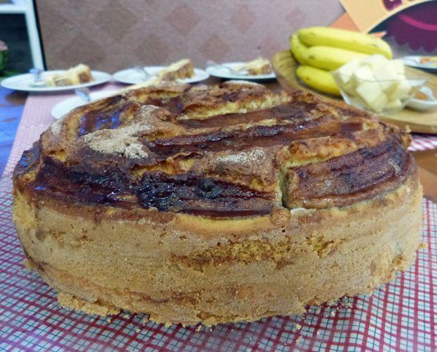 Bolo de Banana - Bolo de banana, queijo e canela | Tortas e bolos > Bolo de Canela | Receitas Gshow
