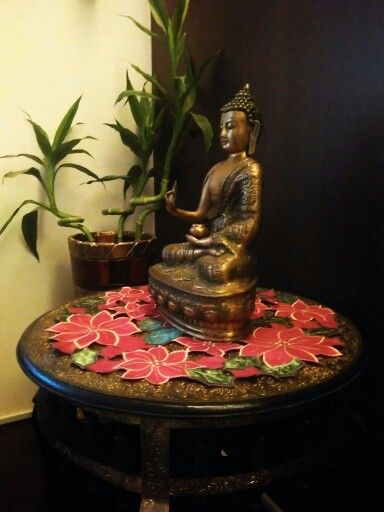 Asian decorating with bambo shoots
