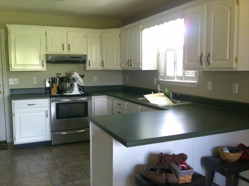 How To Paint Your Countertop Green Countertops Green Kitchen