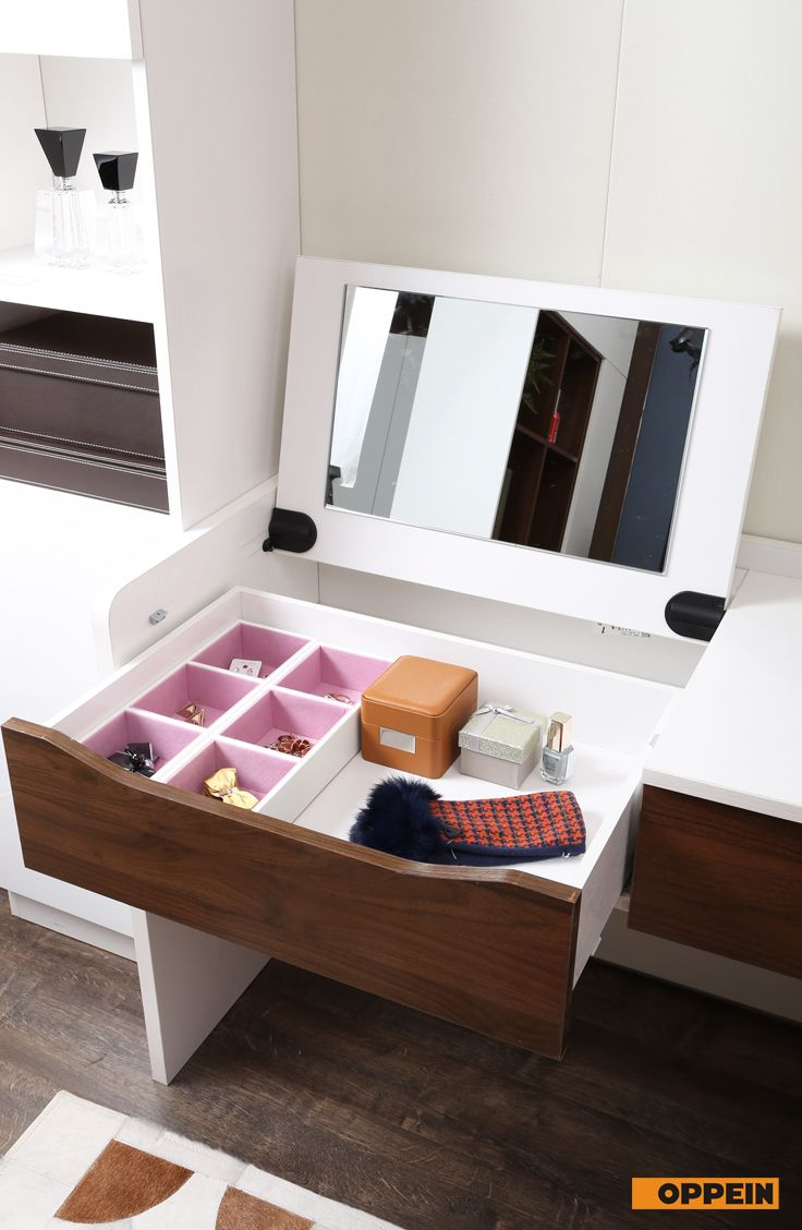 Dressing Table With Fold Down Mirror