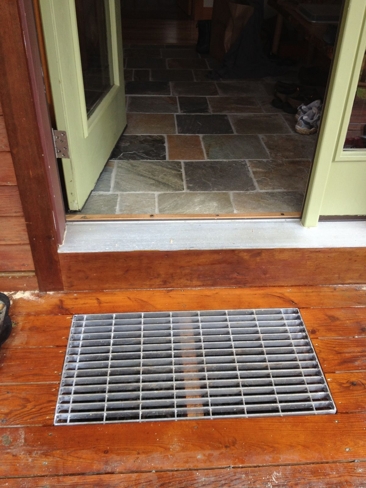 Front Porch Uk >> The finished Vermont Fred Grate, This is perfect! No more buying rugs for the front door or boot ...