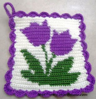 For all of you where the cold wind doth blow...how about a little sprinkling of Springtime with this Tulip Pattern Motif scheme with free diagram. Afghan following this pin made with this motif.  I can do this! ¯\_(ツ)_/¯