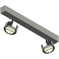 Photo of Top Light Puk Choice Turn 35 Led ceiling lamp, with clear lenses, chrome top light
