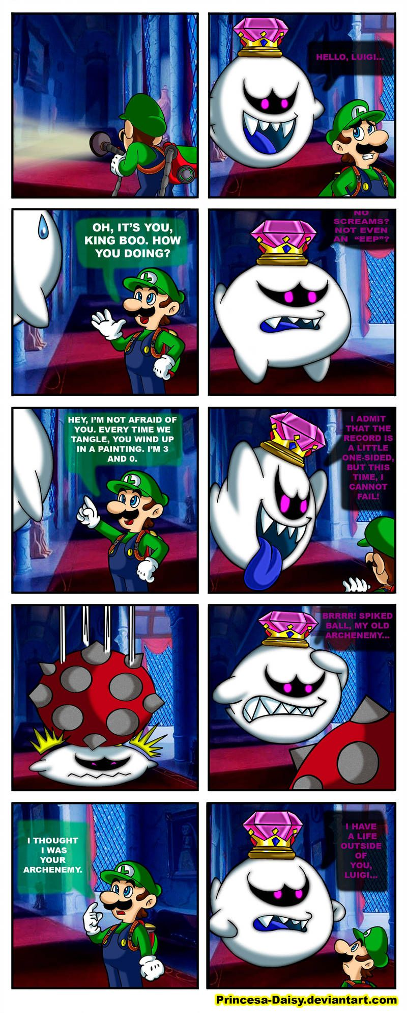 King Boo And Luigi My Old Archenemy By Princesa Daisy