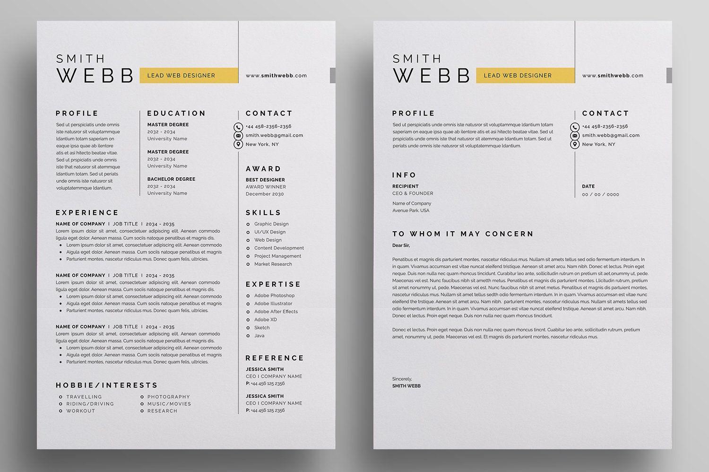 Resume/CV , spon, InchPaperSizeBleed Ad Letterhead