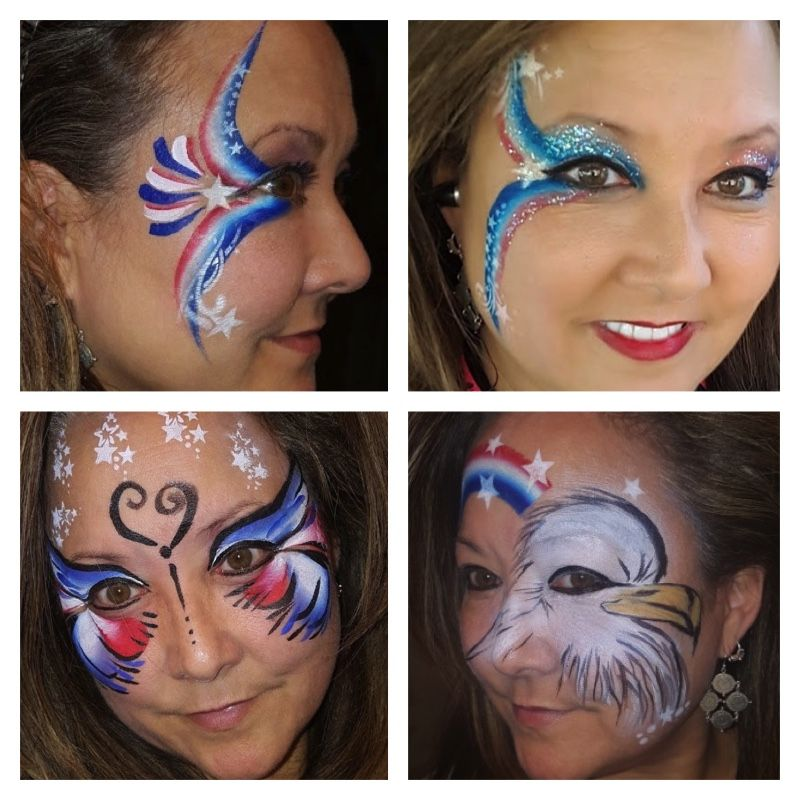 Red White Blue Patriotic 4th Of July Face Painting Great Ideas