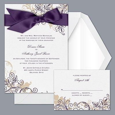 Hmmm Purple Wedding Invitations Trendy Wedding Invitations Wedding Invitations