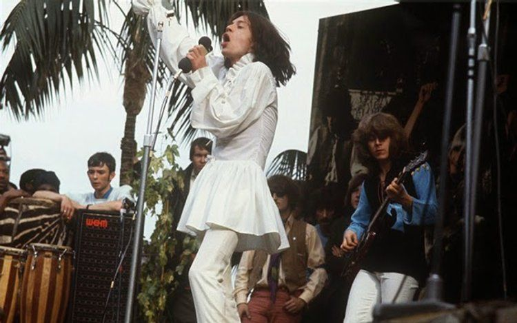 Rare Color Photographs Of The Rolling Stones Free Concert At