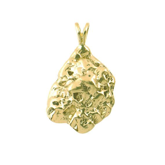 Colorful gold nugget pendant with earrings