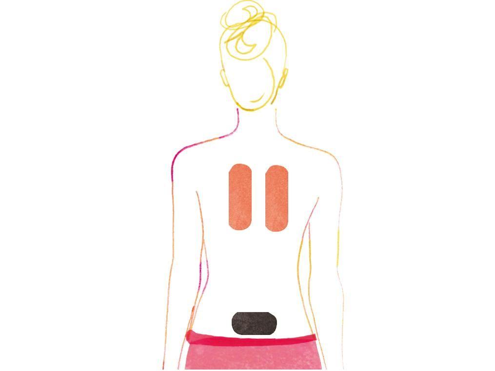 Sie können Ihre Tapes auch selbst auf verspannte Körperstellen kleben. Vital zeigt Step by Step wie das geht.