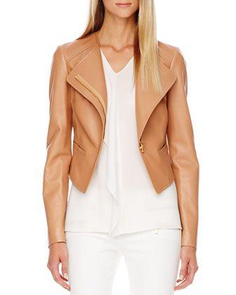 Michael Kors Asymmetric Leather Jacket