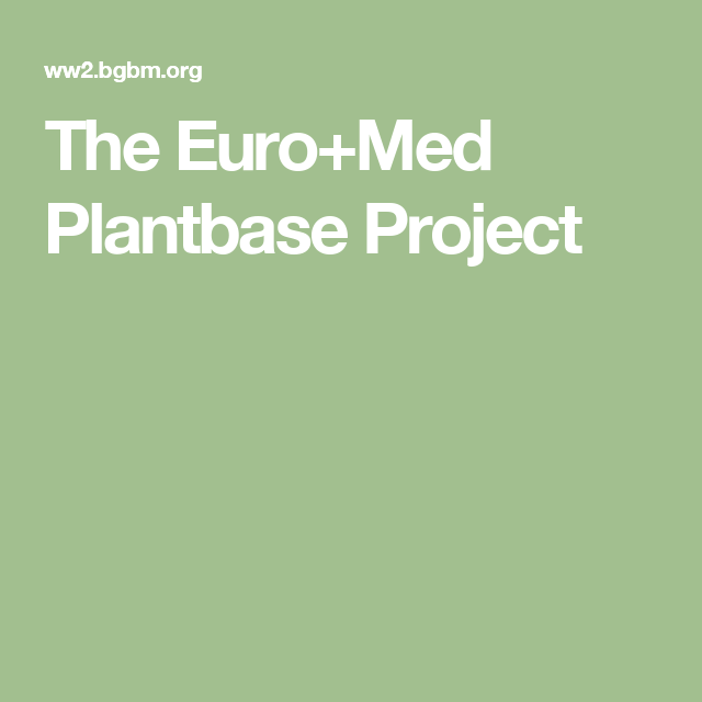 The Euro+Med Plantbase Project