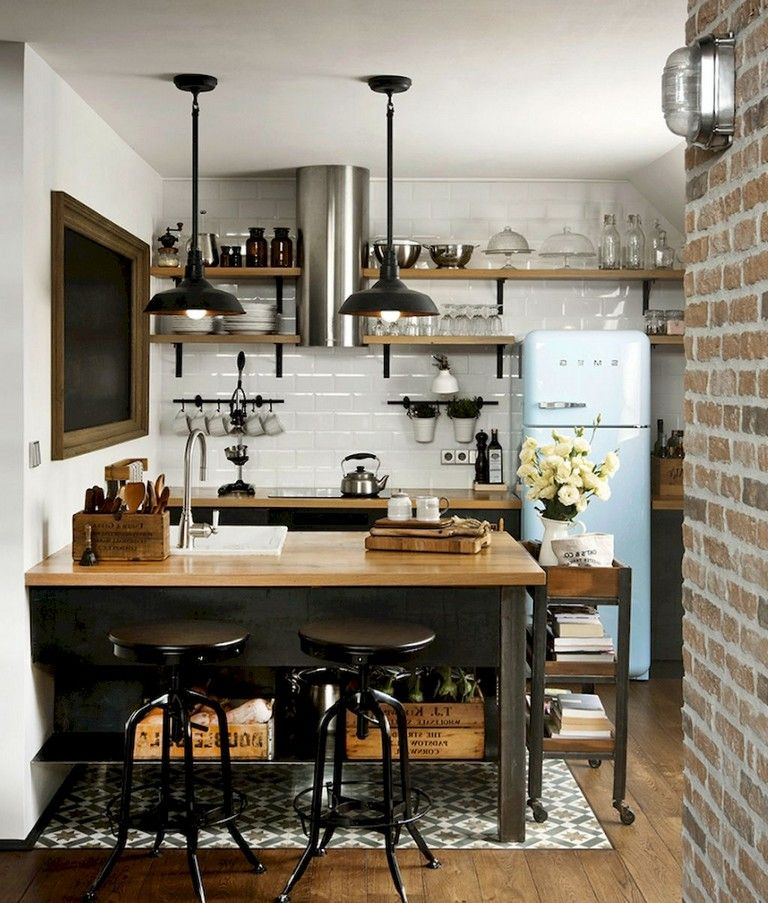32 Smart Small Apartment Decorating Ideas On A Budget Small Apartment Kitchen Decor Small Apartment Kitchen Kitchen Design Small
