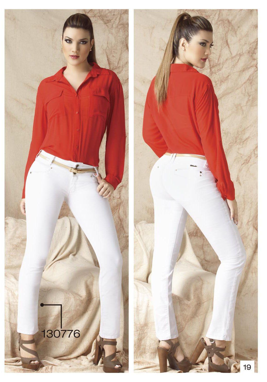 Pantalon De Drill Bota Tubo Color Blanco Moda Casual Clothes Outfits
