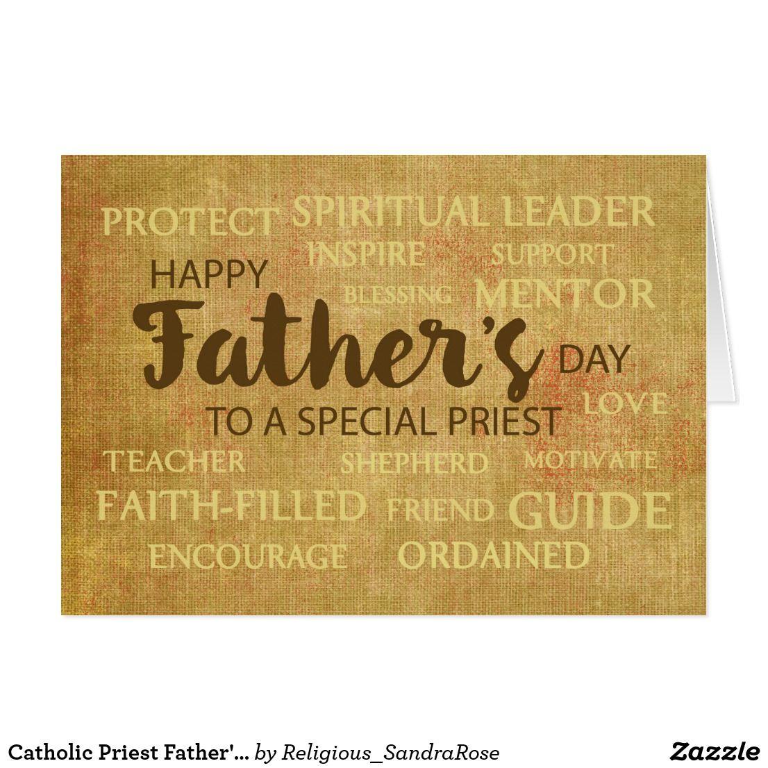 Catholic Priest Father S Day Qualities Of Father Card Zazzle