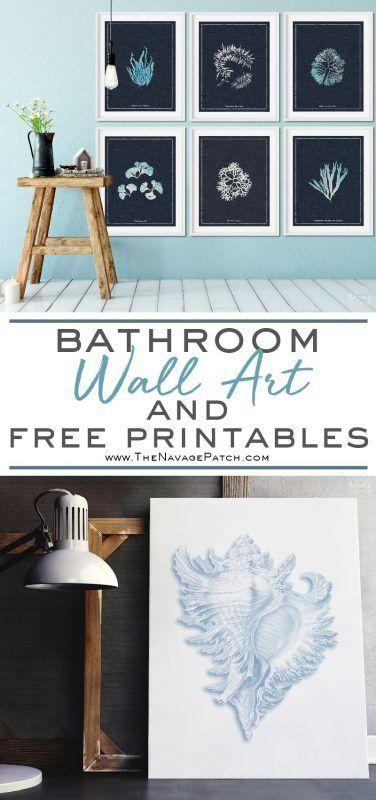 Bathroom Wall Art And Free Printables Bathroom Wall Art Printables Free Printable Wall Art Bathroom Art Diy