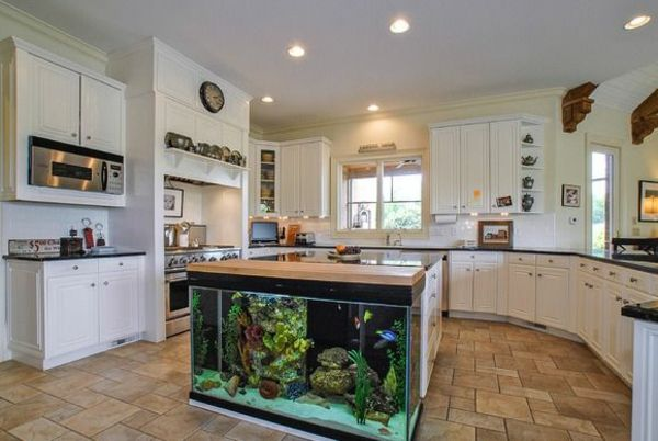 Kitchen Island Fish Tank this kitchen island is also a giant aquarium | bored panda in