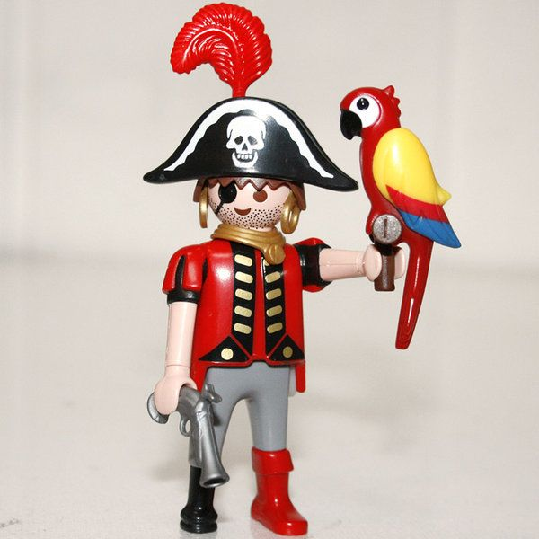 playmobil pirate avec perroquet play original