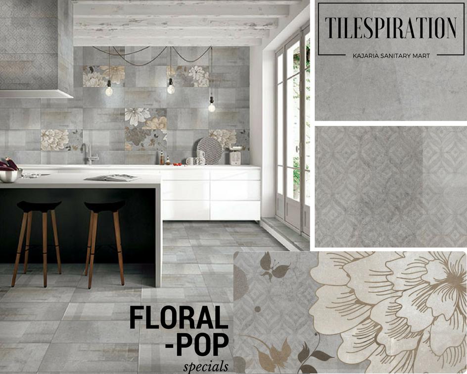 Deisgn Inspiration Floriana Floral Pop Decor Kajariasm In Tile Manufacturers Decor Large Tile