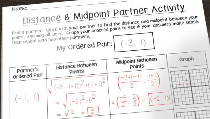 Having Fun With Distance And Midpoint Math In The Middle Learn Math Online Common Core Math Middle School Teaching Middle School Maths