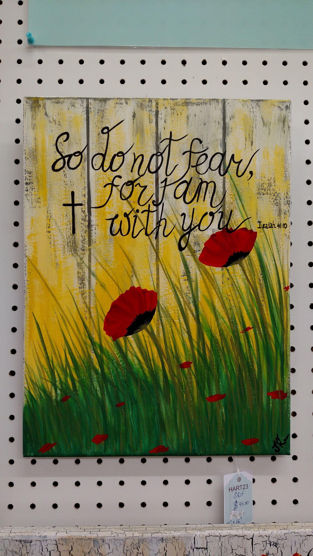 Acrylic Original religious inspirational quotes Christian canvas ...