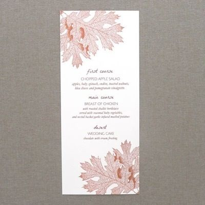 Menu Template  Fall Leaves  Menu Templates Menu Card Template
