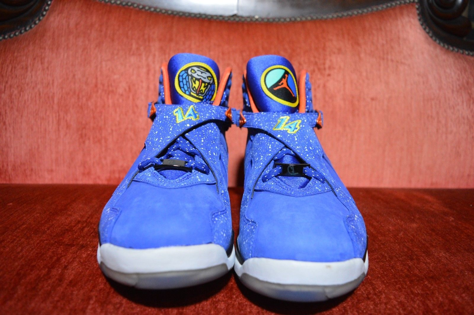 e55a7de346b CLEAN Nike Air Jordan 8 VIII Retro DB Doernbecher Blue Orange 729893 480 Sz  12.5