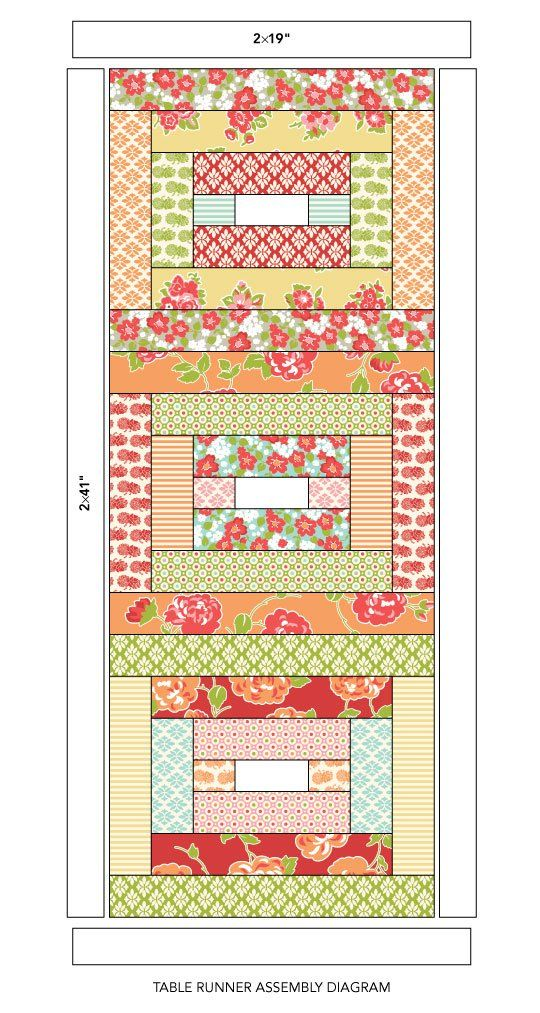 """Trim precut 2-1/2"""" strips into rectangles to piece bright blocks that can easily…"""